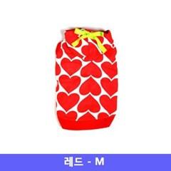 컴패니언 강아지 옷 하트후드 Red Medium