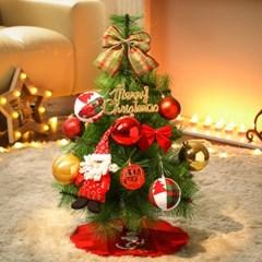 60cm 꼬깔 산타 솔잎트리 풀세트/크리스마스트리