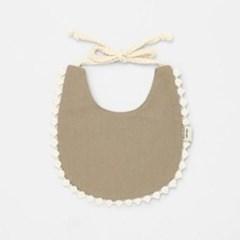 [메르베] 브리즈빕 아기 턱받이+말랑폼폼 모자세트(모카_(1533717)