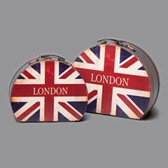 빈티지 영국가방(라운드)