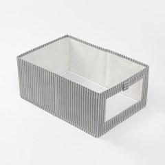 투명창 오픈형 부직포 옷정리함/ 다용도수납 리빙박스