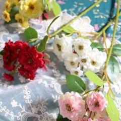 미니 찔레꽃 장미 조화 가지(4color)_(2060248)