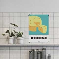 치즈 M 유니크 인테리어 디자인 포스터 식당 프렌치