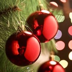 6개 레드유광볼(6cm) 크리스마스장식트리 성탄절