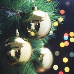 골드 유광볼 크리스마스 트리 장식 6개 8cm