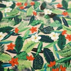 하와이안 플로럴 방수식탁보 테이블보