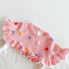 돌핀웨일 핑키방울방울프릴니트슈트(50~100cm)
