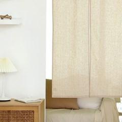 유노야 컴피 내추럴체크 가리개 커튼 (80 x 140 cm)