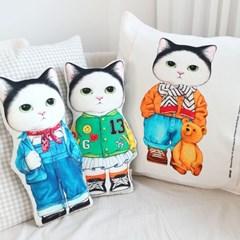 DIY패브릭 - 고양이 기무 【약 47X33cm, 8종】