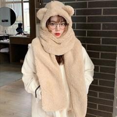 털곰 겨울 곰돌이 퍼 목도리 털모자 인싸템_(2492449)