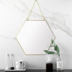 육각 골드 스트랩 벽거울