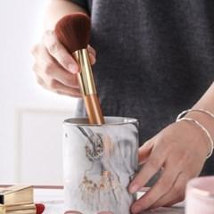 인테리어 대리석 브러쉬 펜 꽂이 다용도 소품 정리함 2color