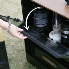 온유라이프 캠핑 오픈폴딩박스 우드상판 테이블 세트