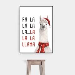 겨울 크리스마스 그림 패브릭 인테리어 포스터 액자_라마