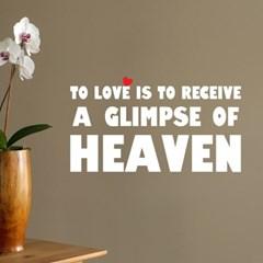Love is heaven 명언 감성 레터링 인테리어 스티커