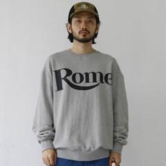 R 레터링 맨투맨 티셔츠 라운드넥 오버핏 쭈리 면 남자 긴팔