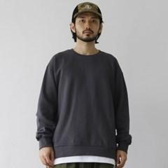 더블 레이어드 맨투맨 티셔츠 라운드넥 오버핏 면 남자 긴팔