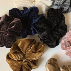 [10 color] 코듀로이곱창 벨벳 스크런치 머리끈 헤어곱창