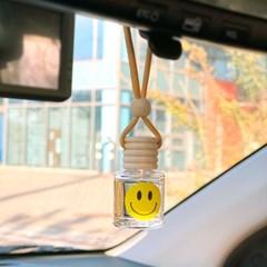 옐로 스마일 차량용 방향제 + 송풍구클립 자동차 디퓨저 선물세트
