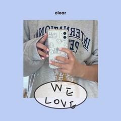 [뮤즈무드] we love (clear) 아이폰케이스
