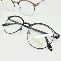 블랙 브라운 도수없는 데일리 가벼운 패션 안경