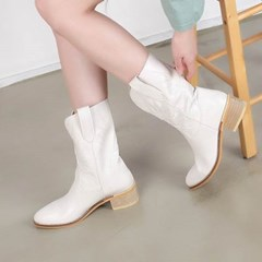 kami et muse Embroidery western middle boots_KM20w128