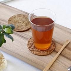 심플 라탄 원형 컵받침 1p_(2066445)