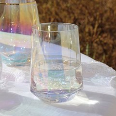 LAZYTHING Hologram Octagon aurora Glass 300ml