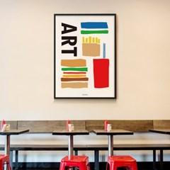 햄버거 이즈 아트 M 유니크 인테리어 디자인 포스터