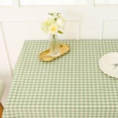멜란체크 방수식탁보 테이블보-4컬러