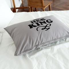 멜로우  60수 감성디자인 호텔 베개커버 그녀의왕 50x70 1개