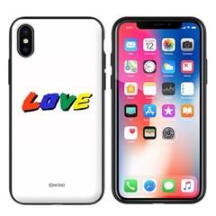 몬드몬드 LOVE 자석 오픈 범퍼 케이스 아이폰 커버