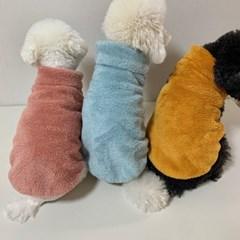 러블리댕댕 강아지  양털 조끼 후리스 (4가지 색상)