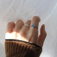 원석 다이아 라인 반지(2type)(11월탄생석)