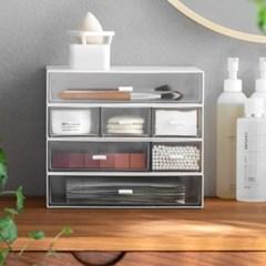 필요한만큼 조합 하는 데스크 책상 화장품 정리 수납 정리함 3type