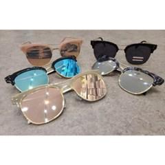 반뿔테 가벼운 도수없는 블랙 핑크 패션 선글라스