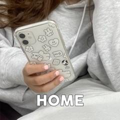 [뮤즈무드] HOME (clear) 아이폰케이스