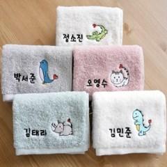 KC인증 이름자수 40수 어린이집 고리수건 캐릭터 5매