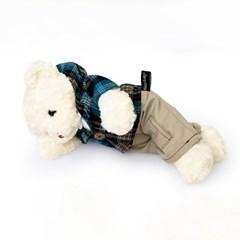 신체크후드 테디베어 녹음인형-남자곰(화이트)