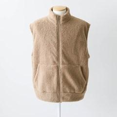 겨울 남성 반폴라 양털 뽀글이 후리스 플리스 베스트 조끼