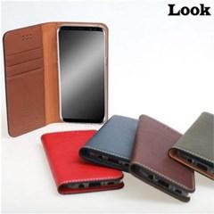 룩 아이폰12 / 프로 다코타워싱 플립 가죽 핸드폰 케이스