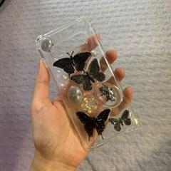 검은 나비 레진 폰케이스 휴대폰케이스
