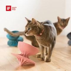 몬도미오펫 팽이식기 고양이식기_식탁 Gray