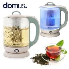 도무스 유리티포트 1.7L 약탕기 티팟 전기포터 커피 티메이커