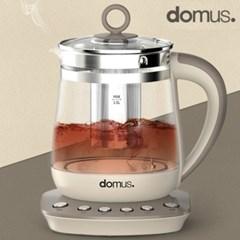 도무스 유리티포트 1.5L 약탕기 차우리는 분유 전기포터 커피 티팟