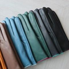 컬러 배색 양가죽 장갑 (7color)