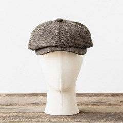 LB HOUNDSTOOTH NEWSBOY CAP (brown)