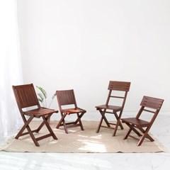 원목 접이식 카페 의자_브라우니