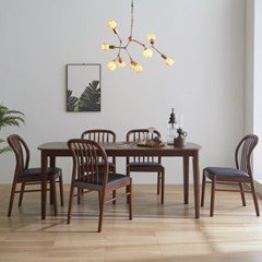 핀치 원목 6인 식탁세트 540 의자형 2colors