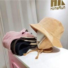 패션 기본 귀달이 골덴 코듀로이 버킷햇 벙거지 모자